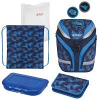 Ghiozdan echipat Herlitz SoftFlex Plus Dino + cadou stilou Pelikano Junior