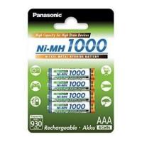 Acumulatori AAA (R3), 1000 mAh, set 4 buc., Panasonic