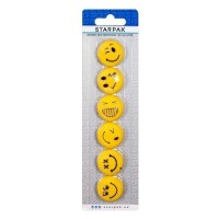 Magneti Smiley diametru 30 mm, 6 buc./set, Starpak