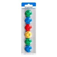 Magneti Smiley II diametru 30 mm, 6 buc./set, Starpak