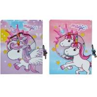 Agenda jurnal cu lacatel Unicorn, 12x15,5cm