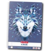 Caiet A4 80 file cu spirala Herlitz Animals Wild - Wolf