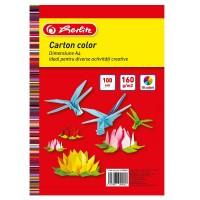 Carton A4 10 culori asortate, 100 coli, 160g/mp, Herlitz