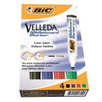 Marker whiteboard BIC Velleda set 4 culori