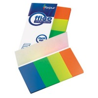 Stick index plastic 50 x 20 mm, 4 x 40 file/set, Forpus