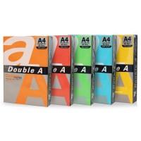 Hartie Double A A4 set 5 culori intense, 100 coli