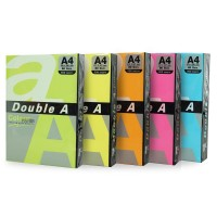 Hartie Double A A4 set 5 culori neon, 100 coli