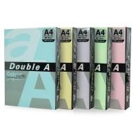 Hartie Double A A4 set 5 culori pastel, 100 coli