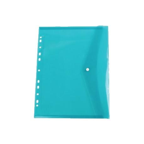 Plic plastic A4 cu capsa si perforatii Centrum, culori asortare