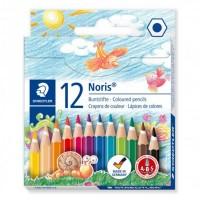 Creioane color Staedtler 10+2 culori Noris