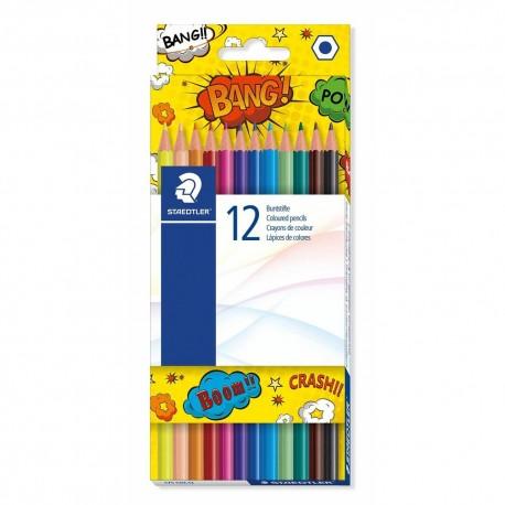 Creioane colorate Staedtler 12 culori Comic