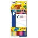 Creioane colorate Staedtler 24 culori Comic
