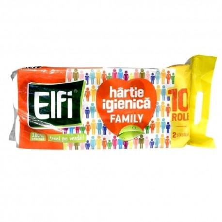 Hartie igienica Elfi 2 straturi, 10 role/set