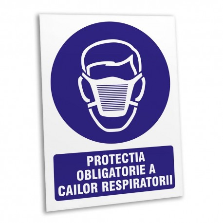"Indicator ""PROTECTIA CAILOR RESPIRATORII"" 15x20cm"