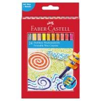 Creioane colorate cerate retractabile Faber-Castell 24 culori