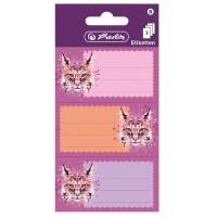 Etichete scolare 9 buc./set Herlitz Wild Animals Lynx