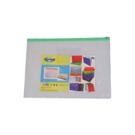 Plic plastic A4 cu fermoar si buzunar carte vizita Centrum