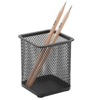 Suport instrumente scris metalic patrat Mesh, 3A
