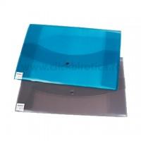 Plic din plastic cu capsa A3 landscape, Centrum - culori asortate