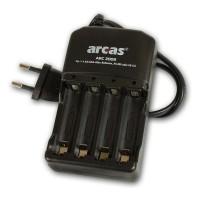 Incarcator pentru 4 acumulatori AA/AAA Arcas