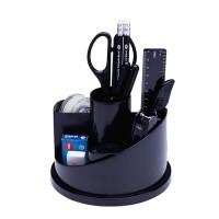 Suport rotativ accesorii birou, echipat 16 piese, Deli
