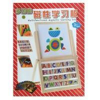 Tablita educationala magnetica cu litere, cifre si forme geometrice