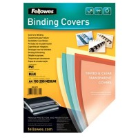 Coperti PVC transparente color A4, 200 microni, 100 BUC./TOP, Fellowes