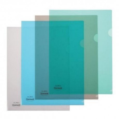 """Mapa plastic A4 in """"L"""" (deschidere dreapta si sus), 180 microni, Centrum"""