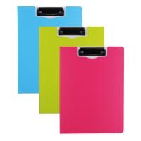 Clipboard dublu culori neon, A4, Deli