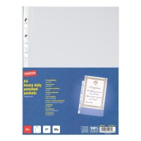 File plastic A4, 80 microni, 25 buc./set, Staples