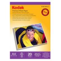 Hartie foto inkjet lucioasa Kodak, A4, 230 g/mp, 20 coli/top