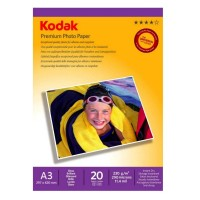 Hartie foto inkjet lucioasa Kodak, A3, 230 g/mp, 20 coli/top