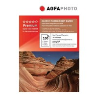 Hartie foto inkjet lucioasa AGFA Premium, 10x15cm, 210 g/mp, 100 coli/top