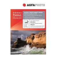 Hartie foto inkjet lucioasa AGFA Premium, 10x15cm, 240 g/mp, 100 coli/top