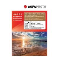 Hartie foto inkjet superlucioasa AGFA Professional, 10x15cm, 260 g/mp, 100 coli/top