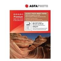Hartie foto inkjet lucioasa AGFA Premium, 13x18cm, 210 g/mp, 100 coli/top