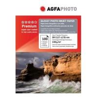 Hartie foto inkjet lucioasa AGFA Premium, 13x18cm, 240 g/mp, 100 coli/top