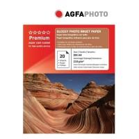 Hartie foto inkjet lucioasa AGFA Premium, A4, 210 g/mp, 20 coli/top