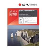 Hartie foto inkjet lucioasa AGFA Premium, A4, 180 g/mp, 20 coli/top