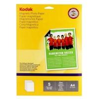 Hartie foto magnetica lucioasa Kodak, A4, 680 g/mp, 5 coli/top