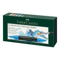 Set 5 markere acuarela, 2 capete, Faber-Castell Albrecht Durer
