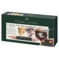 Set 5 markere acuarela, 2 capete, Portret, Faber-Castell Albrecht Durer