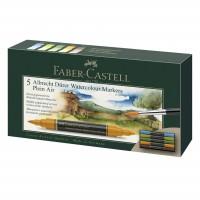 Set 5 markere acuarela, 2 capete, Peisaje, Faber-Castell Albrecht Durer