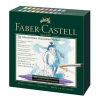 Set 20 markere acuarela, 2 capete, Faber-Castell Albrecht Durer