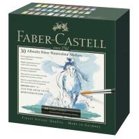 Set 30 markere acuarela, 2 capete, Faber-Castell Albrecht Durer