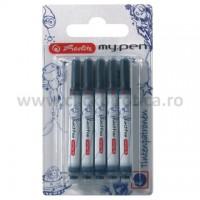 Rezerve cerneala Herlitz My.Pen, 5 buc./set