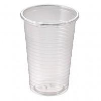 Pahare plastic transparent 250ml, 50 buc./set