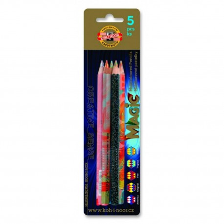 Creioane colorate multicolor Koh-I-Noor Magic 5 buc./set