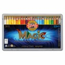 Creioane colorate multicolor Koh-I-Noor Magic Jumbo 3 in 1, 24 buc./set, cutie metal