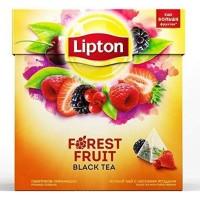 Lipton ceai negru cu fructe de padure 20 pliculete